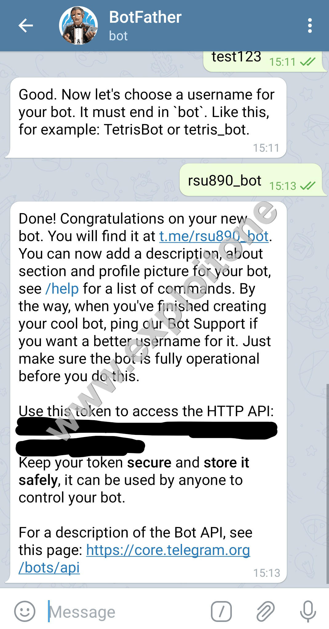 Copy this token ID