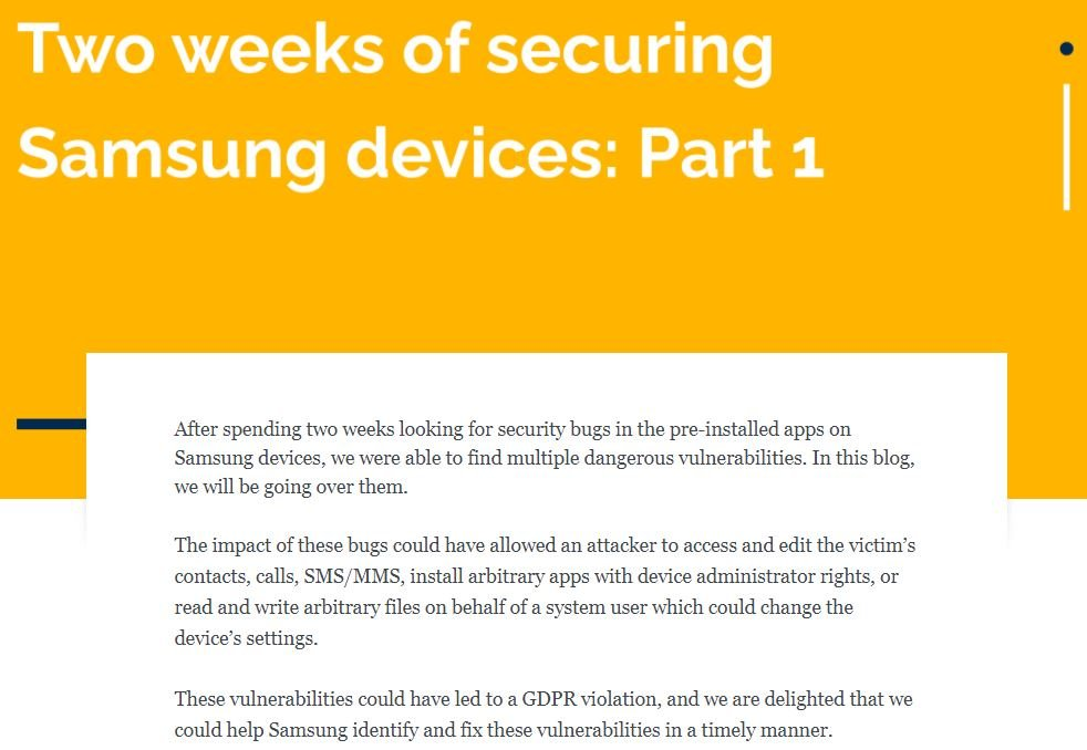Severe security flaws affecting Galaxy S10+ smartphones and other Samsung devices