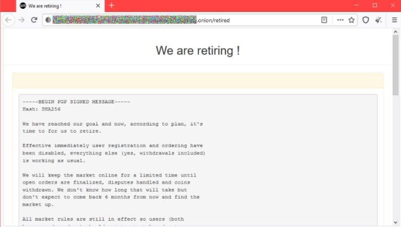 White House marketplace, a deep web illegal market, finally shuts down